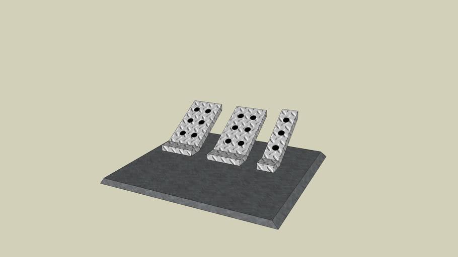 Brake/ Clutch/ Throttle Pedal Board < by LIEBLER SKETCHUP MOTORS >
