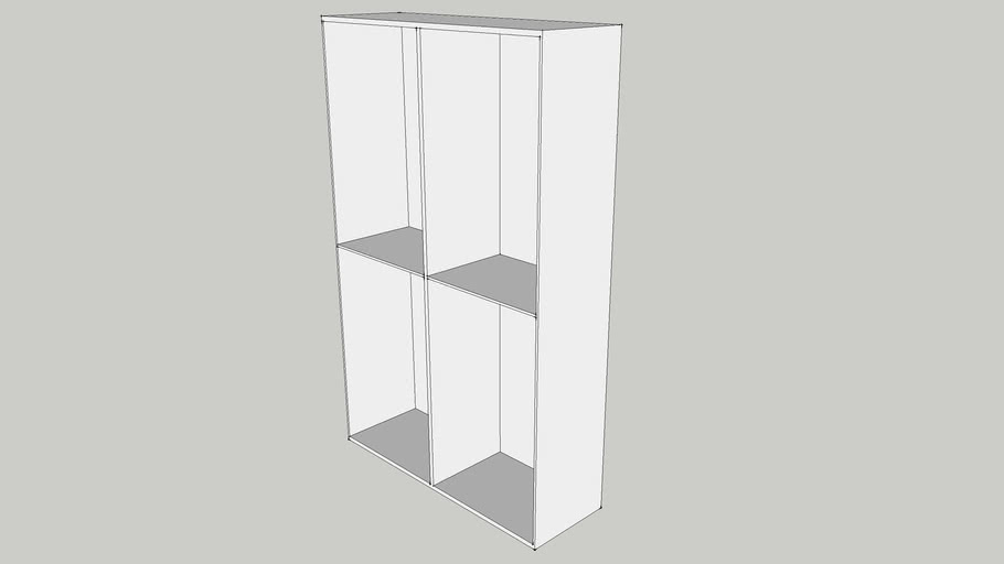 IKEA BESTA Shelf unit 120x40x192 white