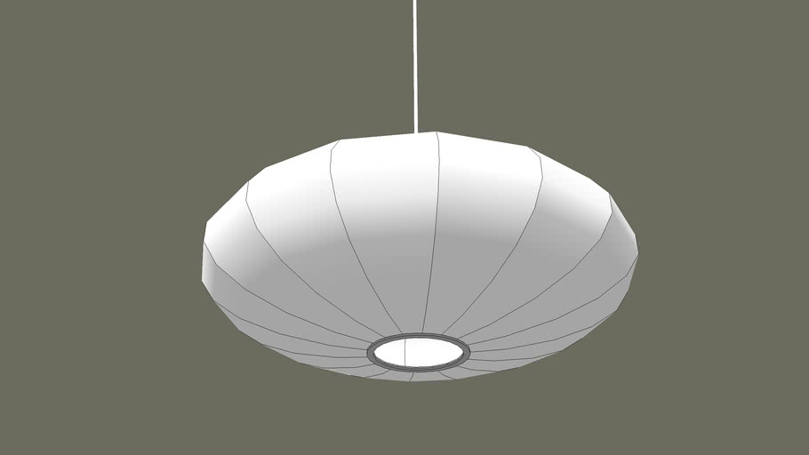 George Nelson Saucer Bubble Lamp - simple