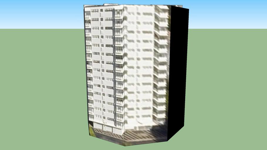 Edificio en Miami Beach, Florida, USA