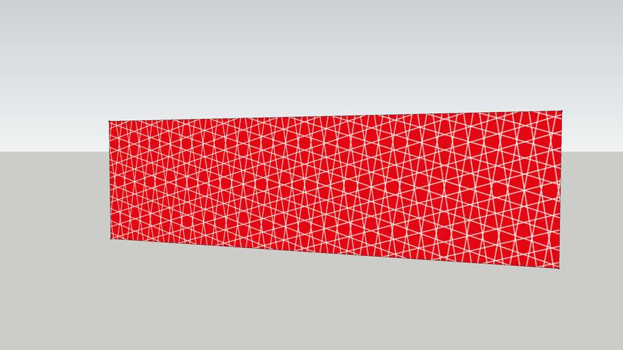 Splashguard600x2100mmCrissCross_RedWhite_byEvaJemtForDesignMCollection