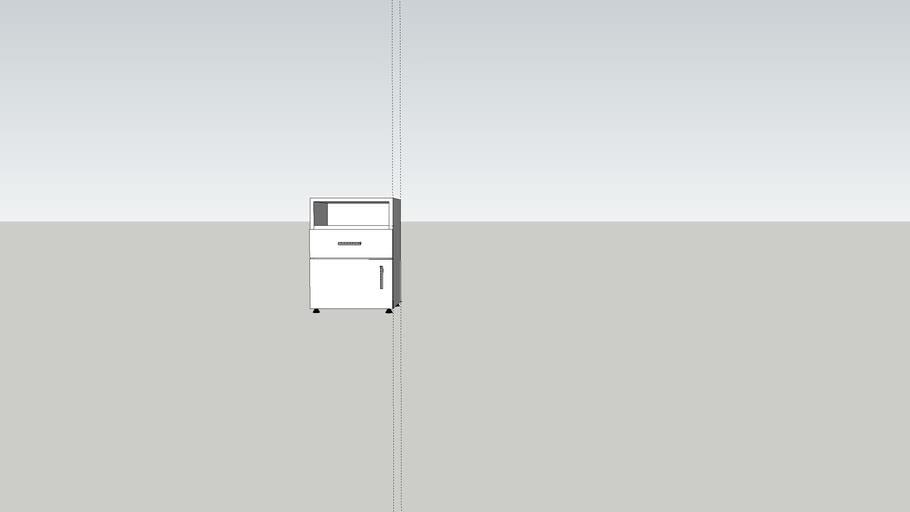 mesa de luz hueco cajon y puerta sile equipamientos