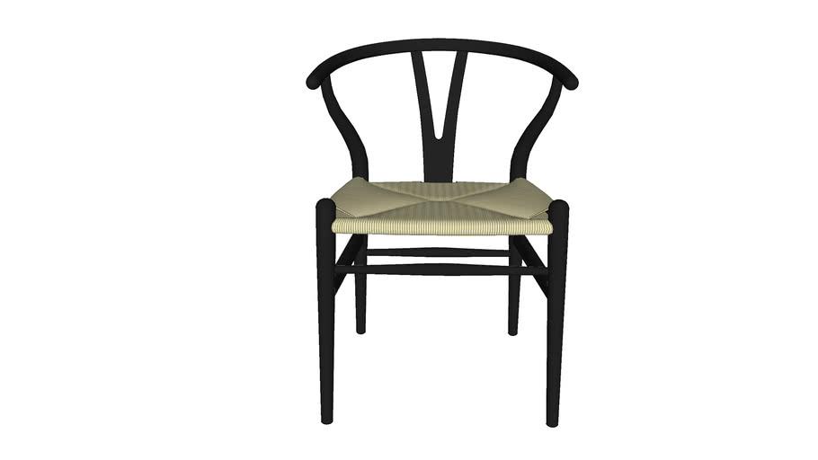 Chair/chaise CH24 Whishbone - Black