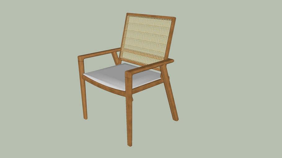 Cadeira Jantar - Madeira e tela