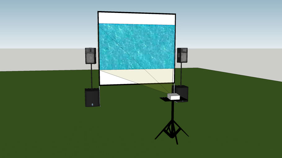 360Production.Services Backyard Movie Theater