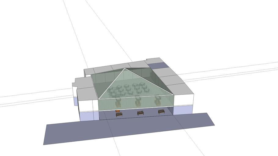 patio de com con techo