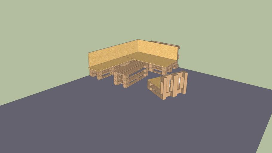 Sitzecke, Gartenmöbel aus Europaletten