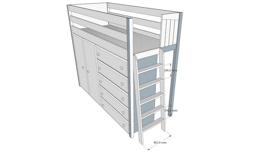 loft bed with dresser denver