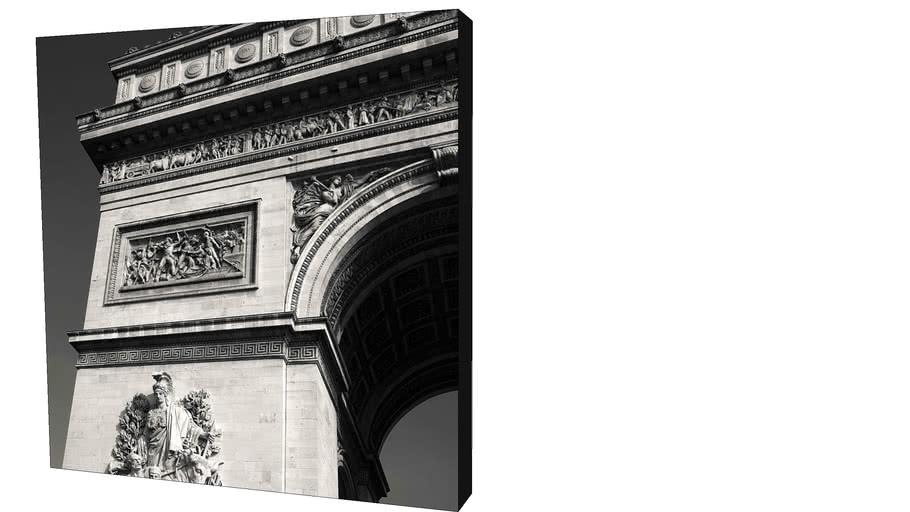 Quadro Dorival Moreira - Coleção Paris: Arco do Triunfo
