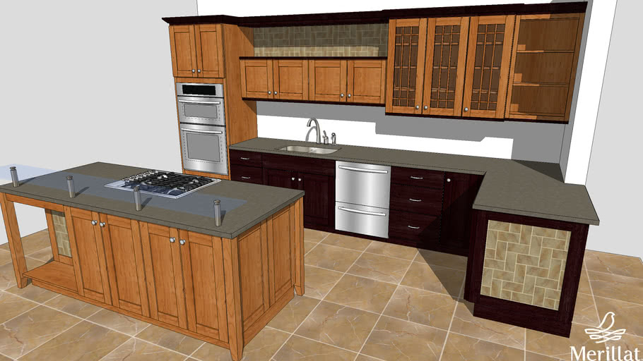 Ibs 2011 Kitchen Vignette M1 Featuring Merillat Cabinets 3d Warehouse