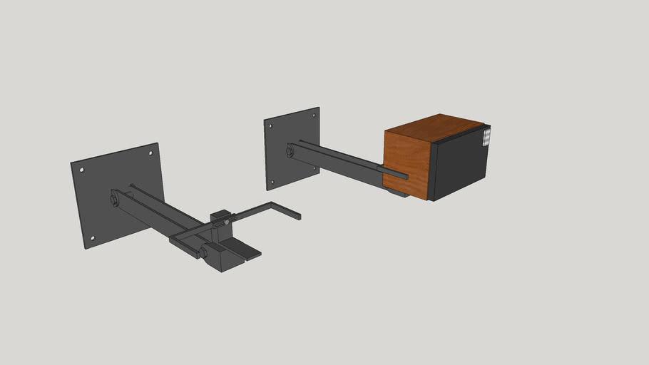 Assembled speaker stand