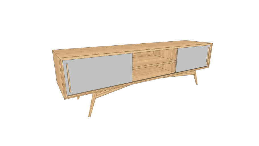 Meuble TV sur-mesure en chêne 170x40xh50cm / TV furniture