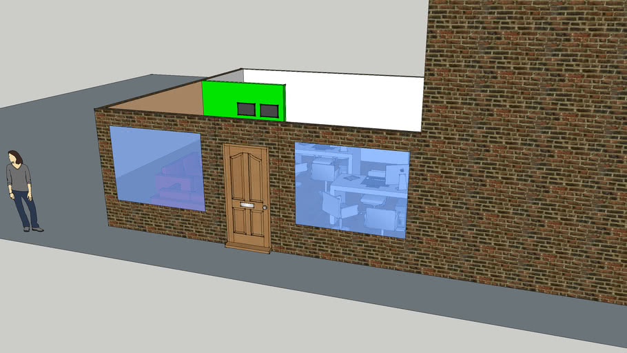 Small Office 3d Warehouse