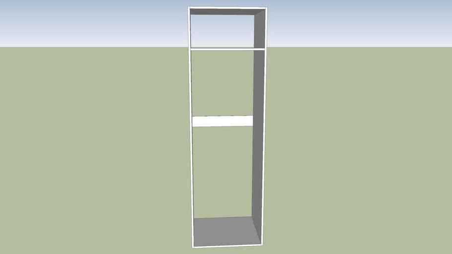 Køkkenskabsmodul køl + frys højskab, rum i top