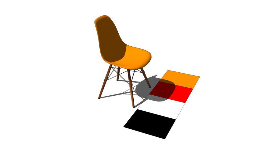 Sedia Plastica Arancio,Chair Orang Plastic