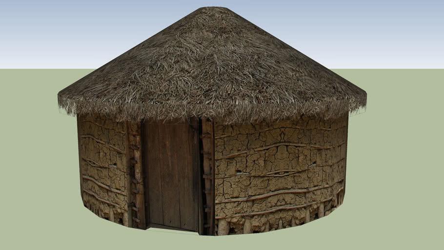 Thatched Mud Hut