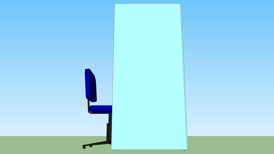 cabine individual com cadeira_