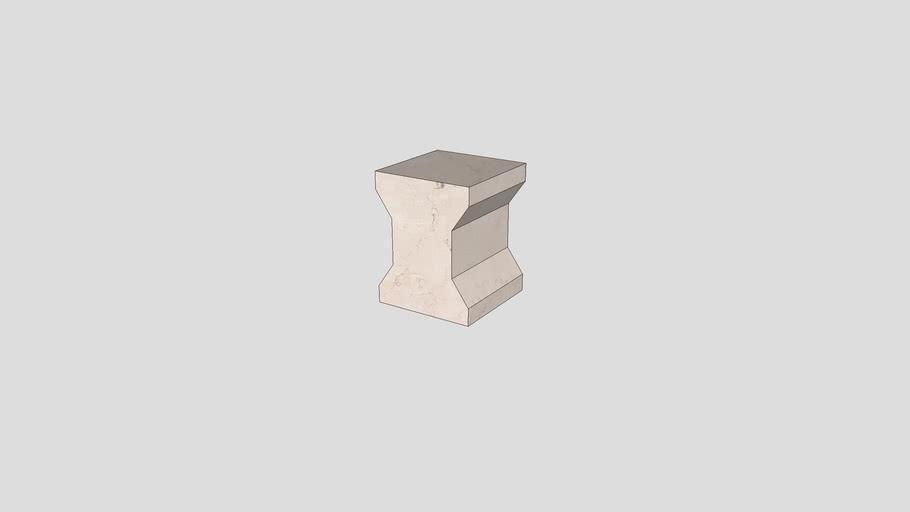 Stool in Rosa Perlino marble   Salvatori   Ikona 35x35xH45 cm