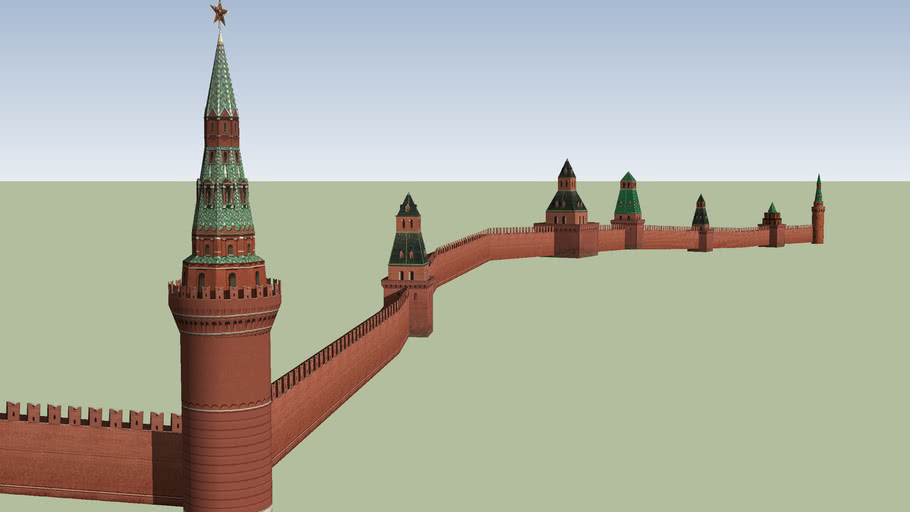 southern wall of the Moscow Kremlin