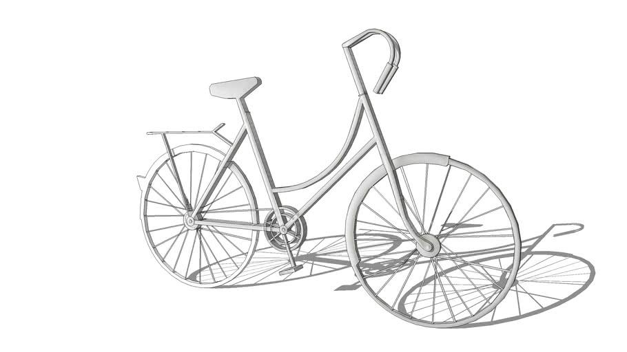 City Bike Déco murale vélo en métal blanc L184 REF 176600 PRIX 149.00€