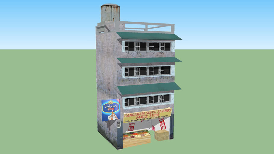 indian shop /building (gameready)