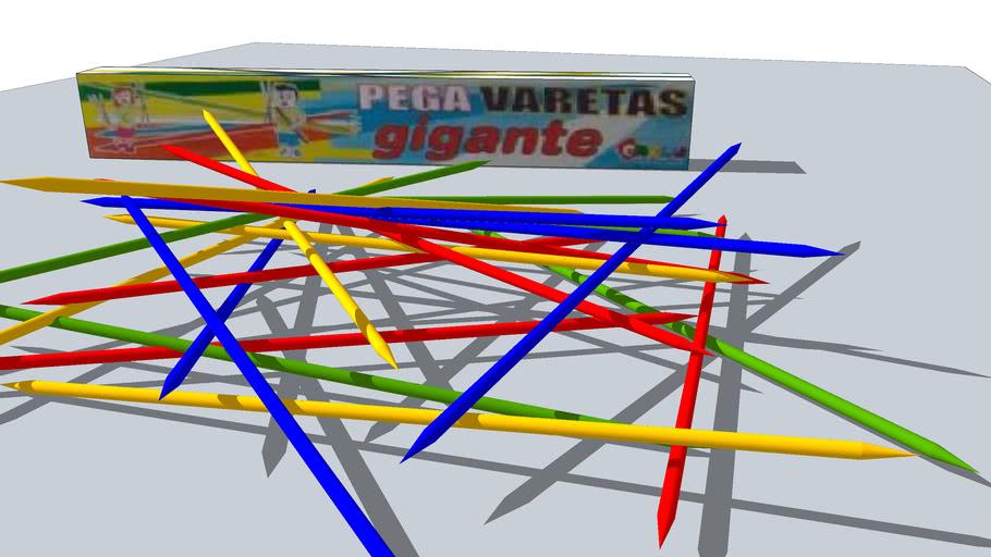 PEGA VARETAS - JOGO DE PALITOS COLORIDOS