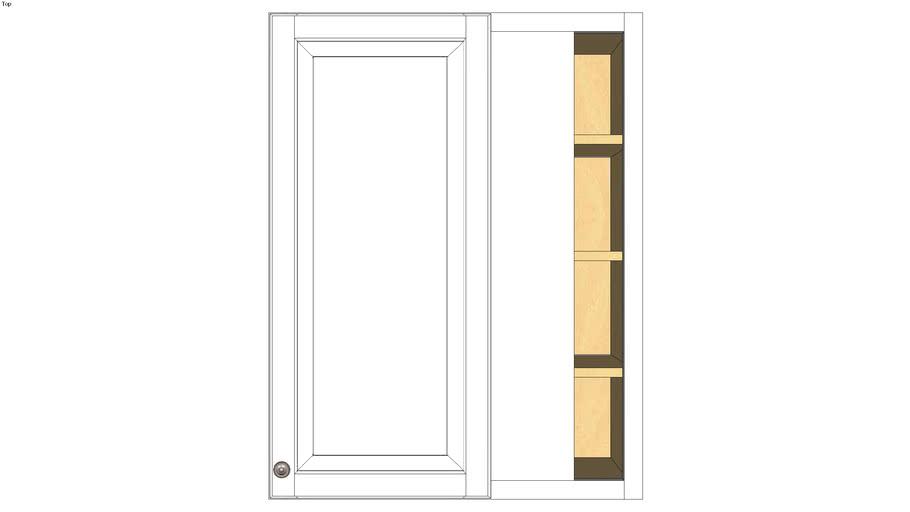 Wall Blind Corner Single Door 39H