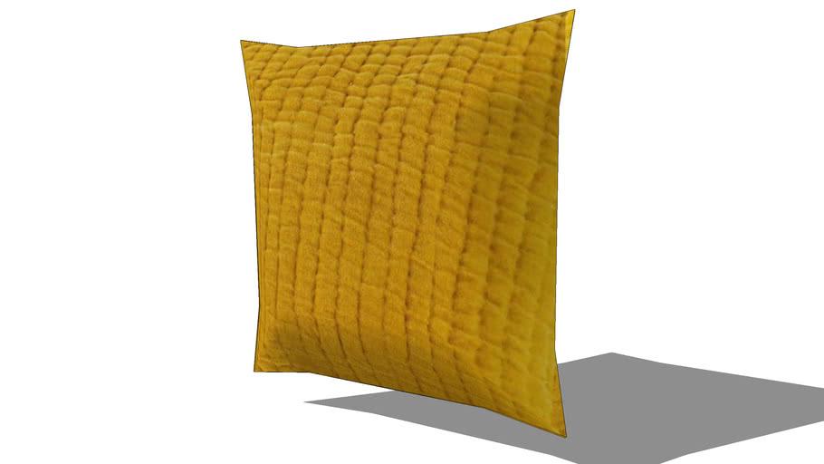 Coussin en velours piqué jaune moutarde 60 x 60 cm REF 156281 PRIX 35.99€