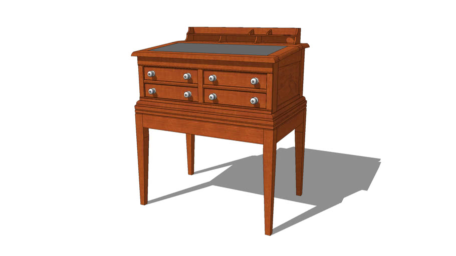 Country Store Desk - Spool Cabinet