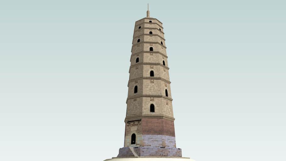 偏关文笔塔—Wenbi Tower In Pianguan,Shanxi Province