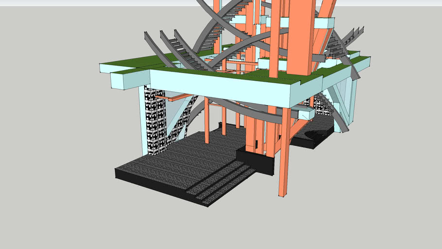 Submission 2 Final Sketchup model( Sky Tree Station)