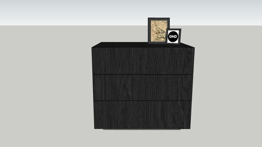 Nightstand Cubo 1,5element 50x45x54 Sudbrock GHD