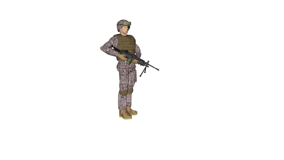 USMC SAW Gunner