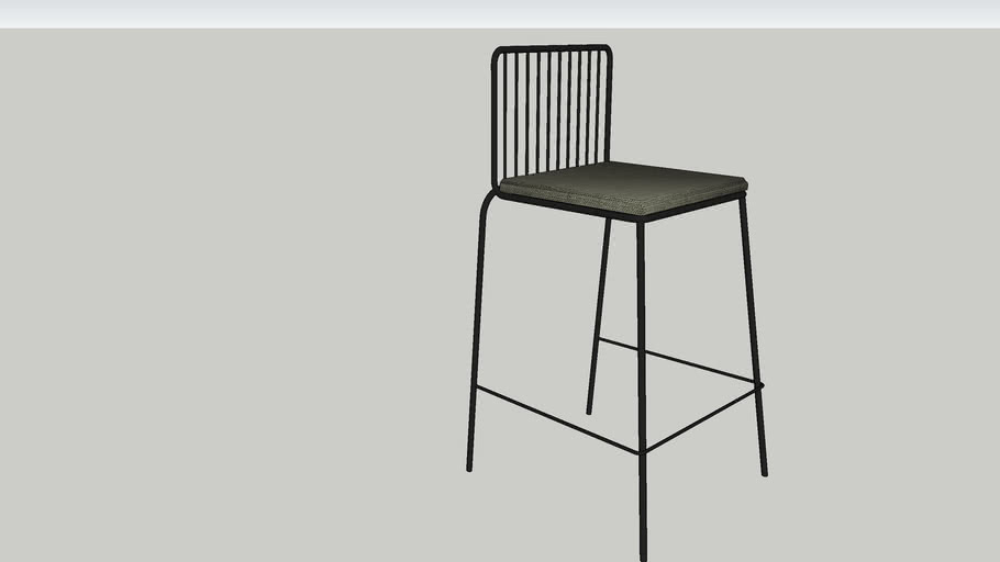 Sodra Square Seat Wire Counter Height Barstool