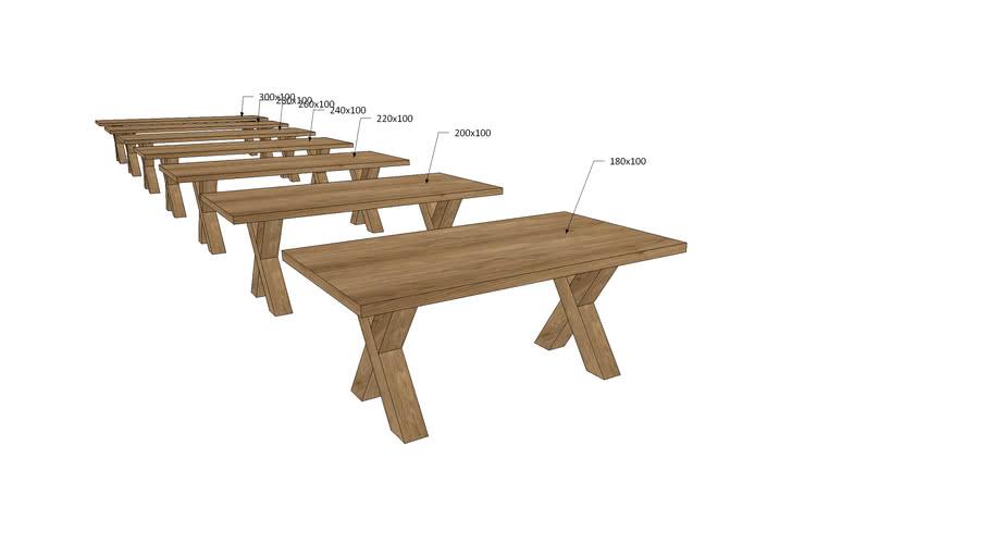 VI1Xx, Vivaldi Dining Table X Wooden Legs