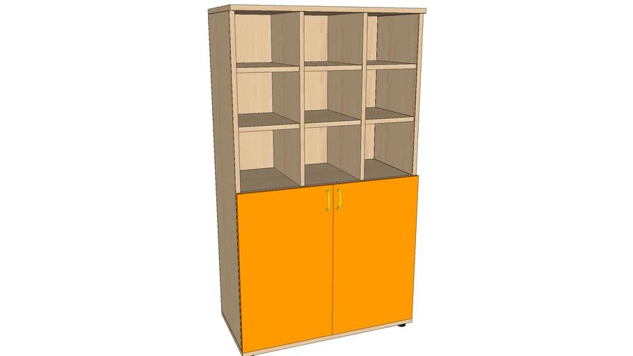 GUARDERÍAS_Armario 2 puertas + 6 espacios 840x420x1480