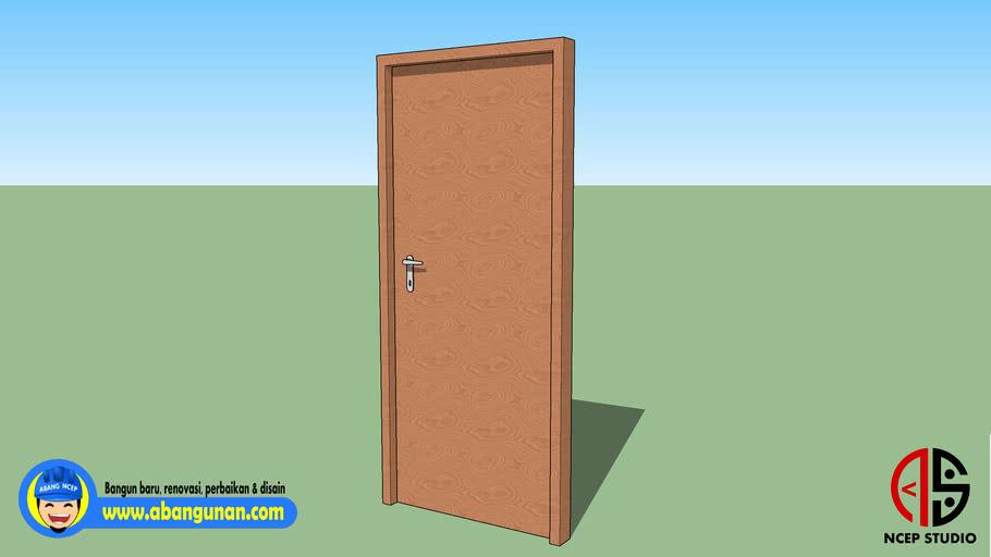 Model Dasar Pintu Kayu 01-NC
