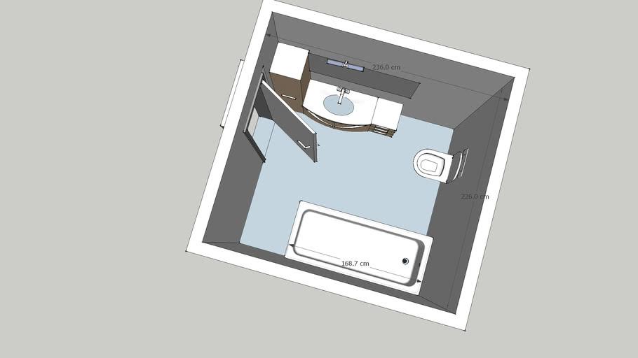 basic small bathroom 236*226 mtrs