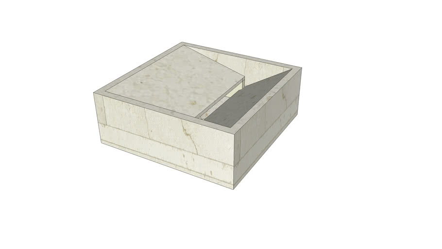 Vasco Countertop Basin 40x40x15 in Crema d'Orcia Lithoverde