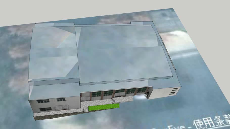 金台高级中学校园建筑模型