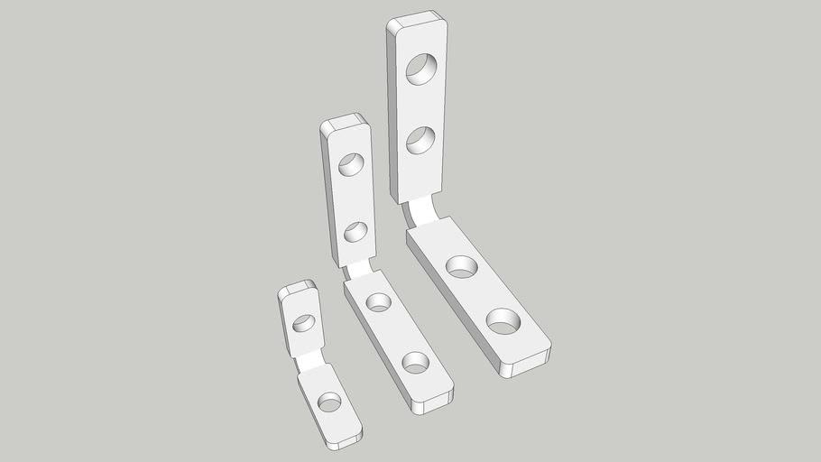 Aluminum Profiles L shape intrerior connector