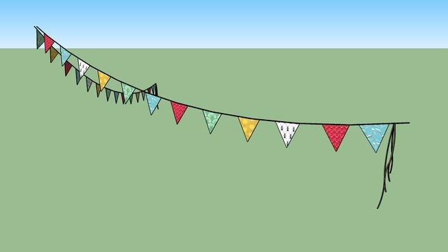 Bandeirinhas triangulares de tecido