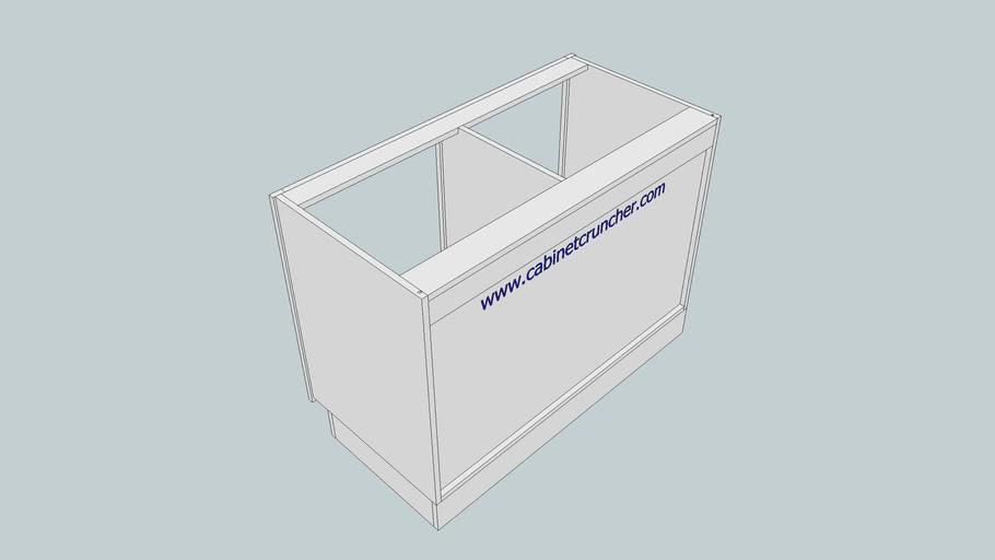 CabinetCRUNCHER Example 11 - Cabinet on Pedestal Base, Dado Back