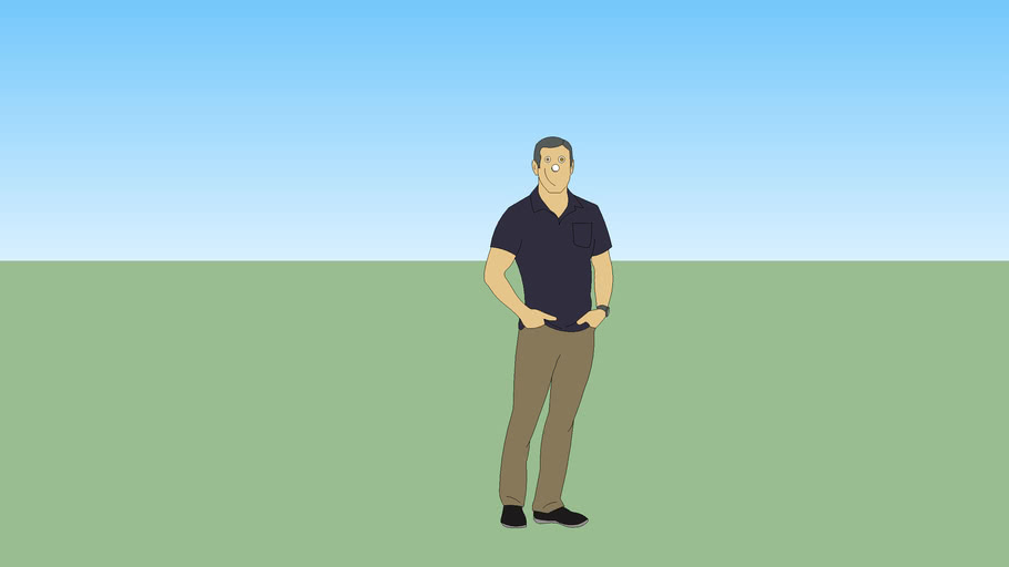 SketchUp Man with face