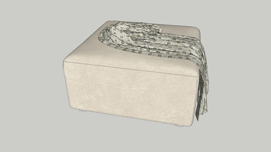 ottoman with throw