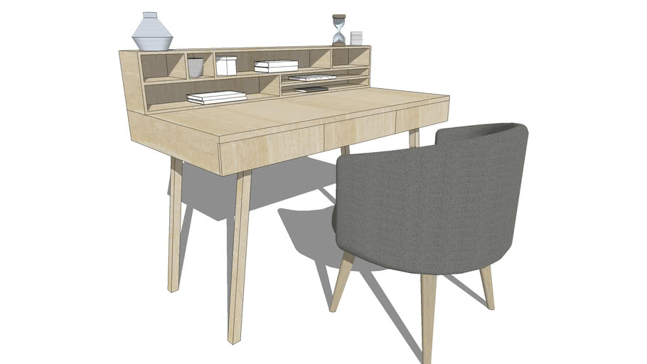 Mid Century Modern Desk 3d Warehouse