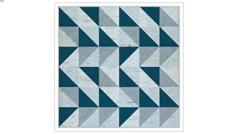 Quadro Triangulo Blue QI