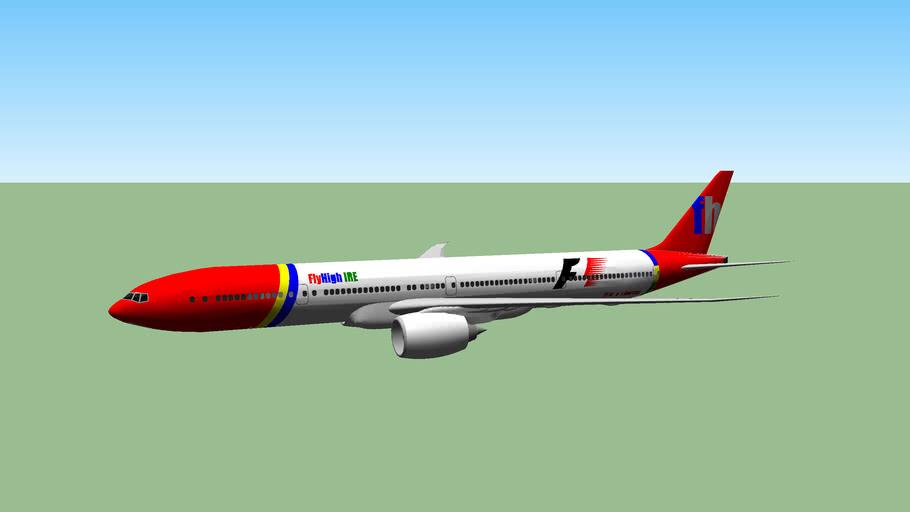 FlyHigh Ireland Boeing 777-300ER F1 Livery