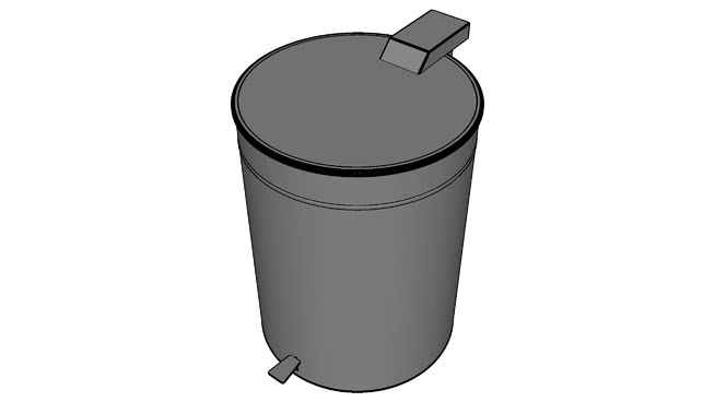 Lixeira em aço inox com pedal 60L - Palmetal - Stainless Steel Garbage Can