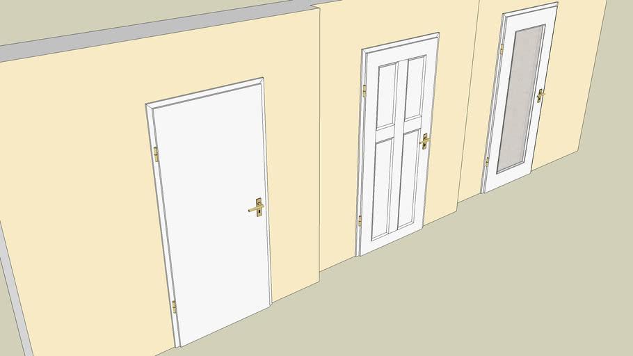 Holztüren_weiß, verschiedene Ausführungen-800